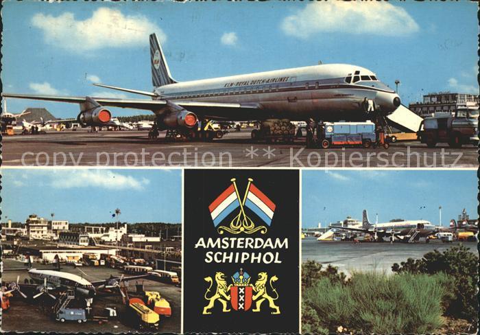 Flughafen Airport Aeroporto Amsterdam Schiphol Flugzeug KLM Royal Dutch Airlines Kat. Flug