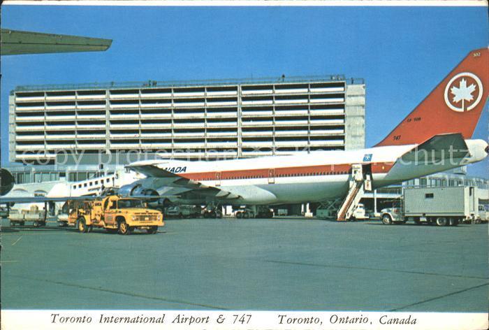 Flugzeuge Zivil 747 Jumbo Jet Toronto International Airport Ontario Canada  Kat. Airplanes Avions