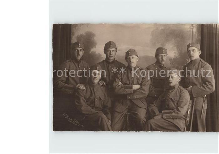 Militaria Schweiz Soldaten Gruppenfoto Kat. Militaria