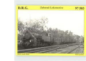 Lokomotive Zahnrad Tenderlokomotive 97 503  Kat. Eisenbahn