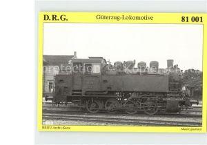 Lokomotive Gueterzug Tenderlokomotive 81 001  Kat. Eisenbahn