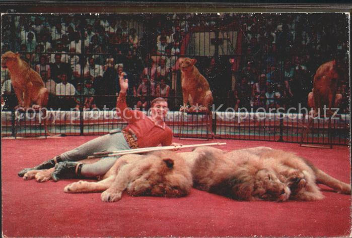 Zirkus Loewenbaendiger Boris Denisov Kat. Zirkus