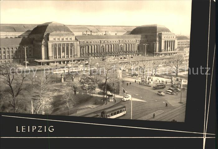 Strassenbahn Leipzig Hauptbahnhof Kat. Strassenbahn