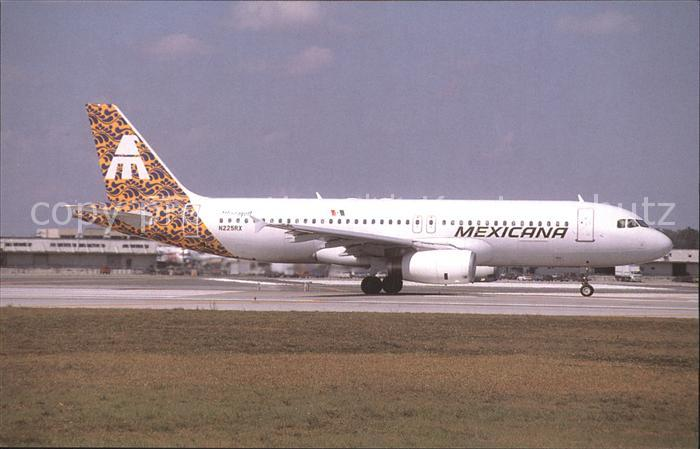 Flugzeuge Zivil Mexicana Airbus A 320 200 Kat. Airplanes Avions