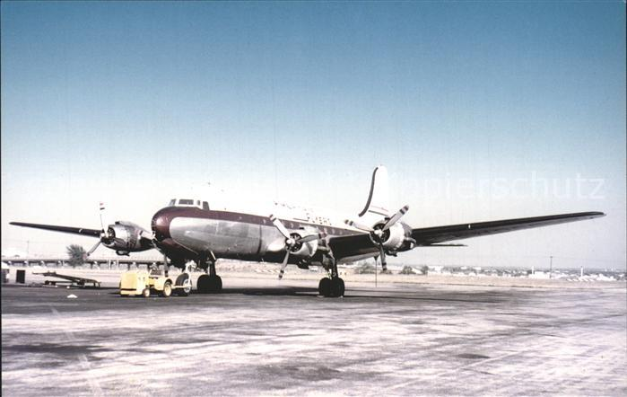 Flugzeuge Zivil American Flyers Airlines Douglas DC 4 Kat. Airplanes Avions