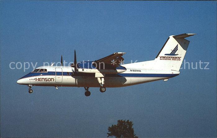 Flugzeuge Zivil Henson Airlines DeHavilland DHC 8 102 Dash 8 N921HA c n 089 Kat. Airplanes Avions