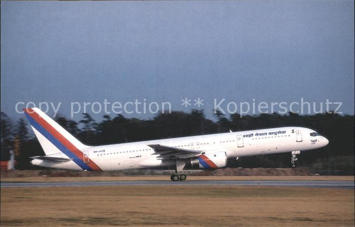 Flugzeuge Zivil Royal Nepal Airlines Boeing 757 200 9N ACB Kat. Airplanes Avions