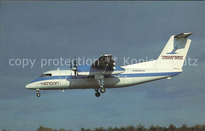 Flugzeuge Zivil Henson Piedmont Regional DHC 8 101 Dash 8 N906HA Kat. Airplanes Avions
