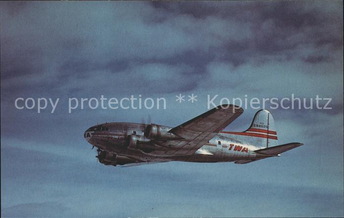 Flugzeuge Zivil TWA Transcontinental & Western Air Inc. Boeing 307B Stratoliner Kat. Airplanes Avions