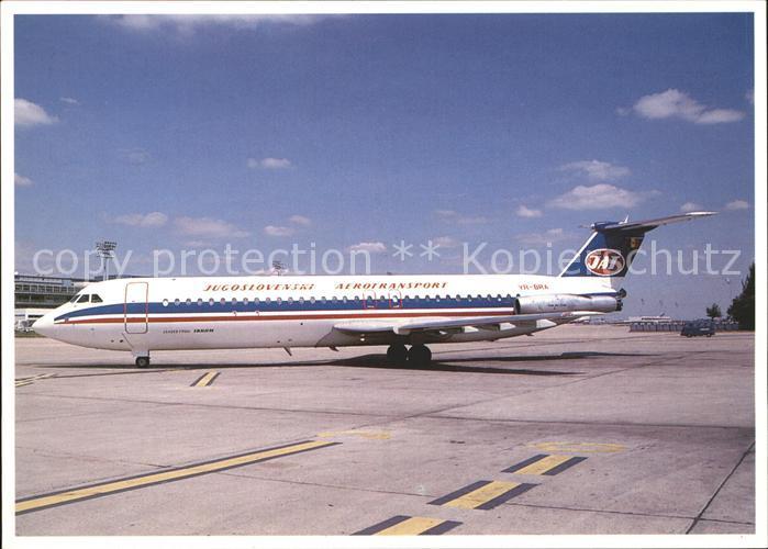 Flugzeuge Zivil JAT Jugoslovenski Aerotransport RomBac 1 11 561RC YR BRA cn 401 Kat. Airplanes Avions