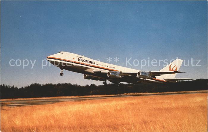 Flugzeuge Zivil JAL Japan Air Lines Cargo Boeing 747 246F JA8123 c n 21034 Kat. Airplanes Avions
