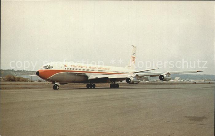 Flugzeuge Zivil TAP Transportes Aereos Portugueses Boeing 707 382B CS TBA  Kat. Airplanes Avions