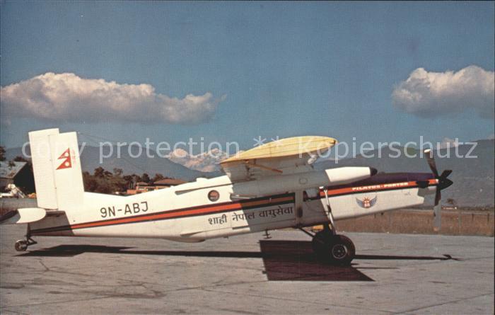 Flugzeuge Zivil Royal Nepal Airlines Pilatus PC 6 B2 H2 Turbo Porter  Kat. Airplanes Avions