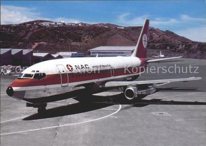 Flugzeuge Zivil NAC Boeing 737 219 ZK NAC c n 19929 60 Kat. Airplanes Avions