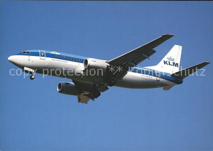 Flugzeuge Zivil KLM Royal Dutch Airlines Boeing 737 Kat. Airplanes Avions