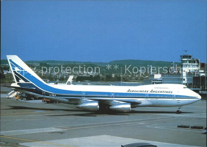 Flugzeuge Zivil Aerolineas Argentinas Boeing 747 287B  Kat. Airplanes Avions