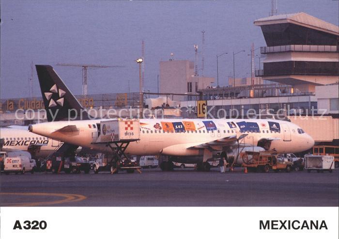 Flugzeuge Zivil Mexicana A320 Kat. Airplanes Avions