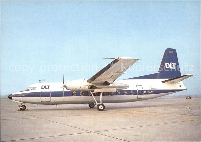 Flugzeuge Zivil DLT Fokker F27  Kat. Airplanes Avions