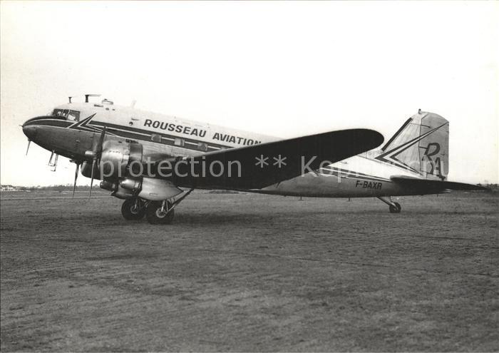 Flugzeuge Zivil Rouseau Aviation DC 3 F BAXR c n 20100 Kat. Airplanes Avions