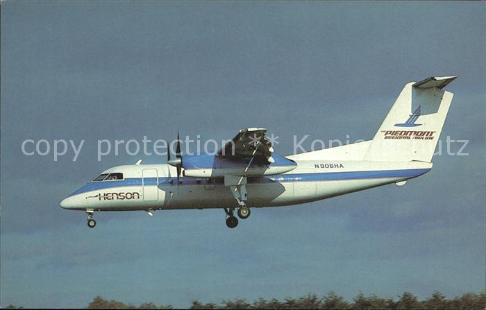 Flugzeuge Zivil Henson Piedmont Regional DHC 8 101 Dash 8  Kat. Airplanes Avions