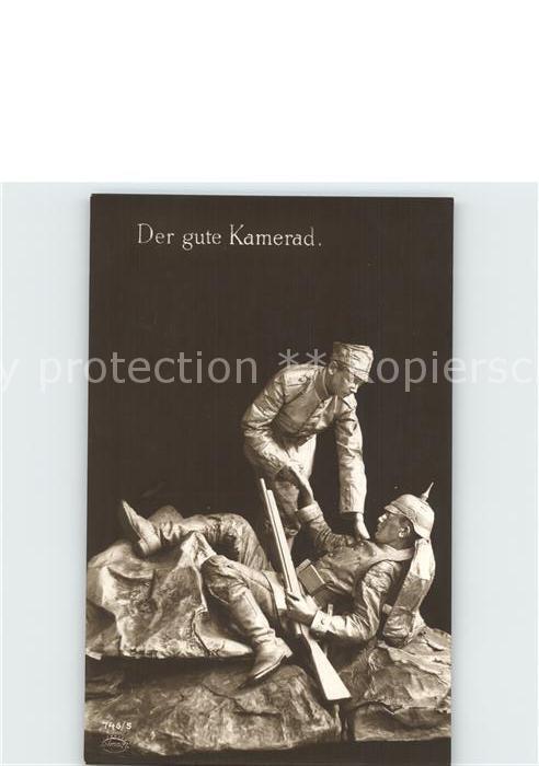 Verlag Amag Nr. 746 5 Der gute Kamerad Soldaten WK1  Kat. Albrecht & Meister AG