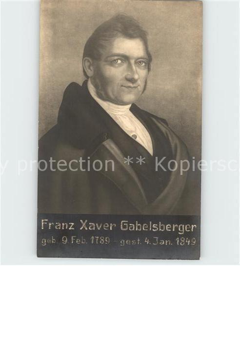 Gabelsberger Franz Xaver  Kat. Persoenlichkeiten
