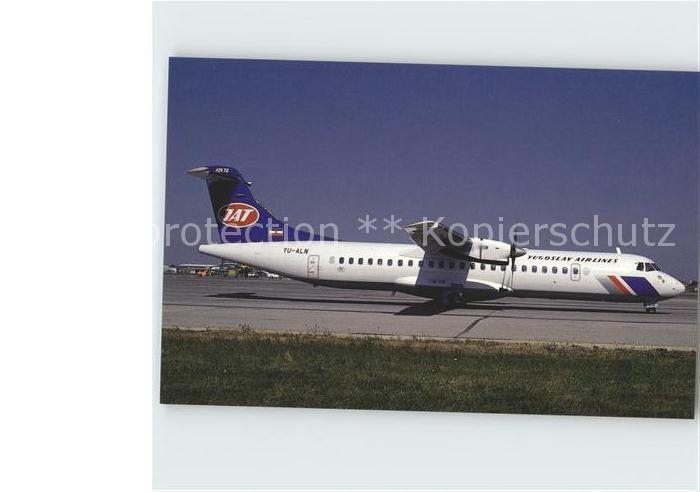 Flugzeuge Zivil JAT Yugoslav Airlines Aerospatiale ATR 72 c n 180 YU ALN  Kat. Airplanes Avions