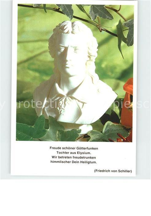 Schiller Friedrich Gedicht  Kat. Dichter