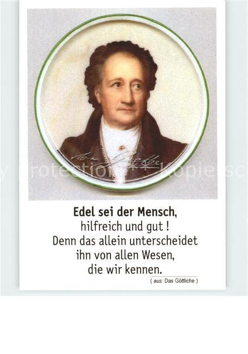 Goethe Johann Wolfgang von Gedicht Kat. Dichter