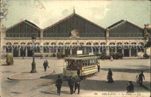 Strassenbahn Orleans Gare Bahnhof  Kat. Strassenbahn