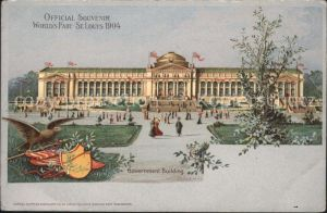 Expositions World s Fair St. Louis 1904 Governement Building  Kat. Expositions