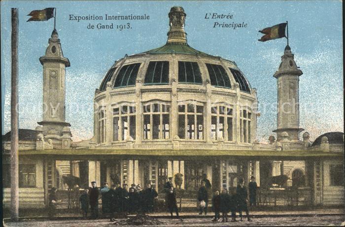 Exposition Internationale Gand 1913 Entree Principale
