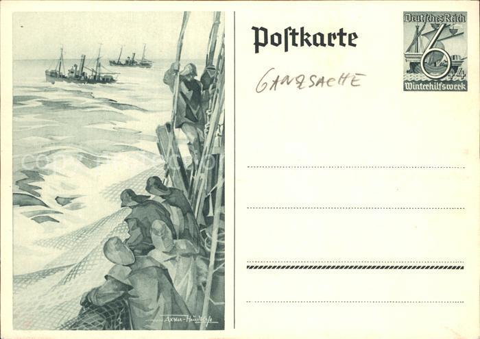 Ganzsache Winterhilfswerk Marine Werner von Axster Heudtlass  Kat. Philatelie