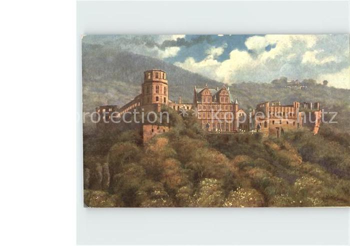 Hoffmann Heinrich Heidelberg Schloss  Kat. Kuenstlerkarte