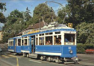 Strassenbahn Motorwagen Ce 4 4 Nr. 21 Verkehrsbetriebe Stadt Zuerich Kat. Strassenbahn