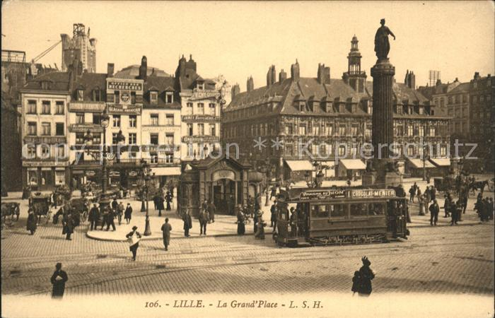Strassenbahn Lille Grand Place  Kat. Strassenbahn