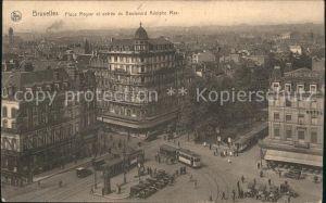 Strassenbahn Bruxelles Place Rogier Boulevard Adolphe Max  Kat. Strassenbahn