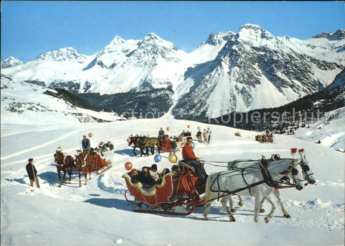 Schlitten Schnee Pferdeschlitten Arosa  Kat. Sport