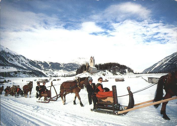 Schlitten Schnee Pferdeschlitten Schlitteda Oberengadin Kat. Sport