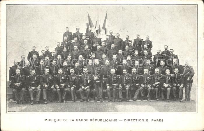 Frankreich WK1 musique de la Garde Republicaine direction G.Pares  / Militaria WK1 /