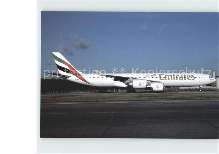 Flugzeuge Zivil Emirates Airbus A340 541 A6 ERB Cn 457 Kat. Airplanes Avions