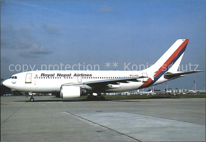 Flugzeuge zivil Royal Nepal Airlines Airbus A. 310.300 D APON Kat. Airplanes Avions