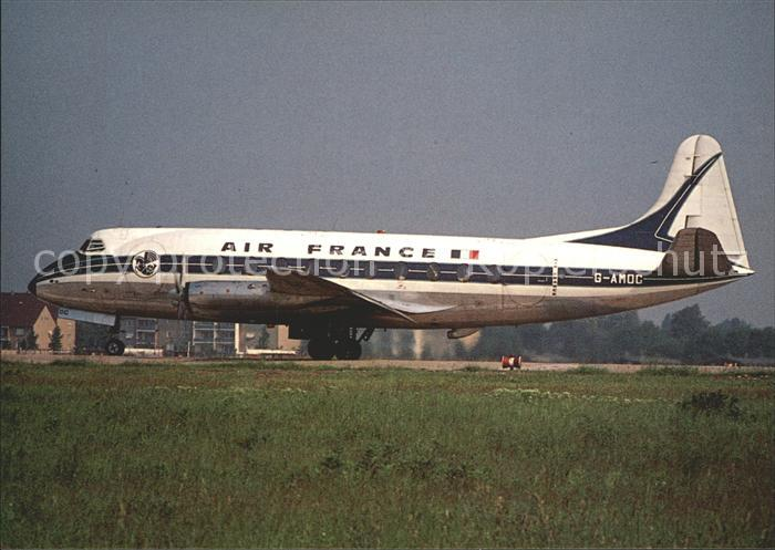 Flugzeuge zivil Air France Vickers Viscount 701 G AMOC Berlin Tegel Kat. Airplanes Avions