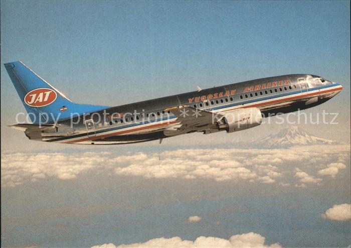 Flugzeuge Zivil JAT Yugoslav Airlines Boeing 737 3H9  Kat. Airplanes Avions