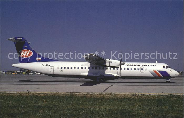 Flugzeuge Zivil Yugoslav Airlines Aerospatiale ATR 72 c n 180 YU ALN JAT Kat. Airplanes Avions
