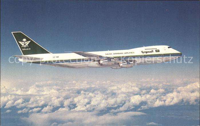 Flugzeuge Zivil SAUDIA Saudi Arabian Airlines Boeing 747 168B HZ AHB S N 22499 Kat. Airplanes Avions