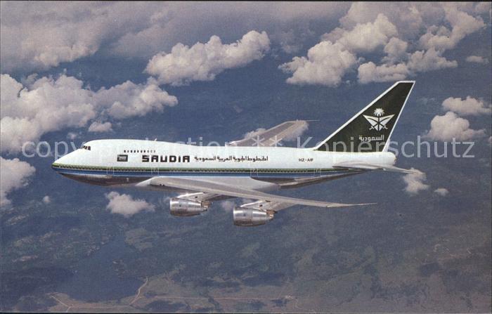 Flugzeuge Zivil Saudia Saudi Arabian Airlines Boeing 747SP 68 HZ AIF C N 22503 Kat. Airplanes Avions