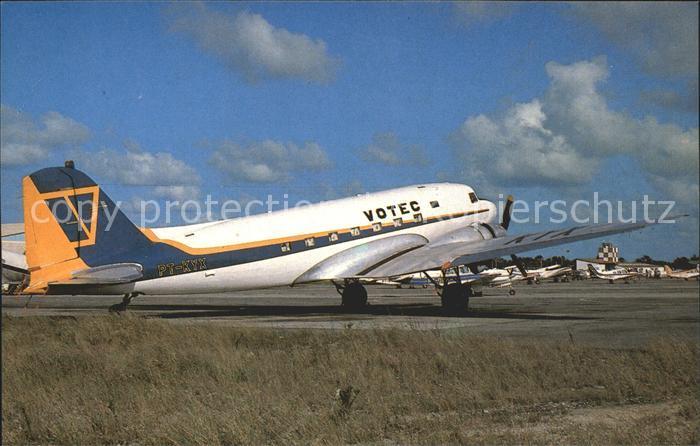 Flugzeuge Zivil Douglas DC 3 C 47A PA KYX c n 25266 Votec Servicos  Kat. Airplanes Avions
