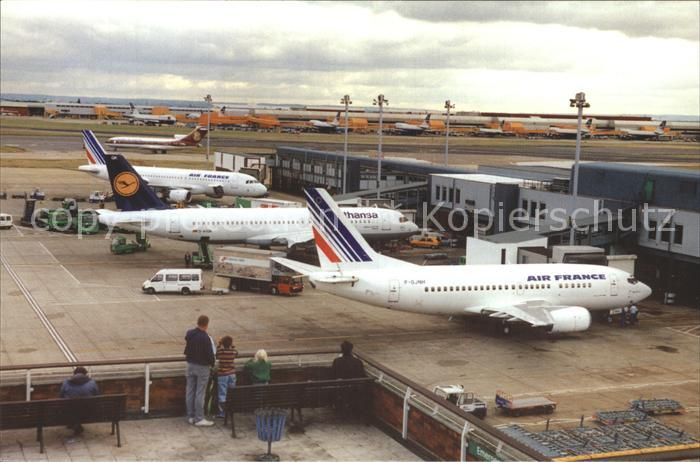 Flughafen Airport Aeroporto London Heathrow Air France Lufthansa  Kat. Flug
