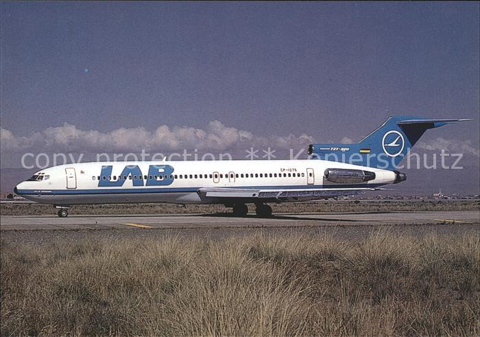 Flugzeuge Zivil LAB Lloyd Aereo Boliviano Boeing 727 2K3 CP 1276 c n 21082 1124 Kat. Airplanes Avions